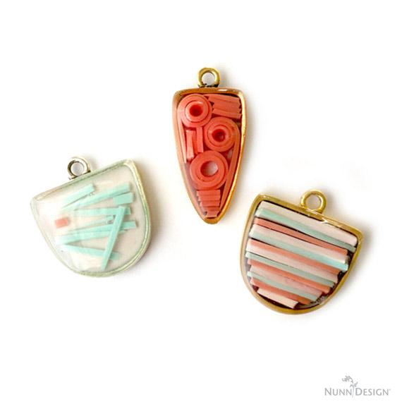 Resin Mosaics – Colorized Resin, Open Back Bezels